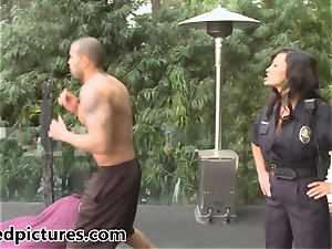 busty cop Lisa Ann gives out her manmeat penalty