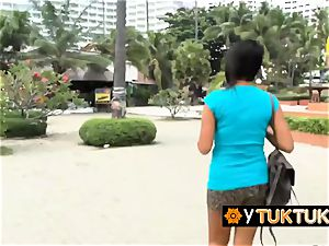 slutty japanese girl gets her nipples bj'ed before traveler romps her