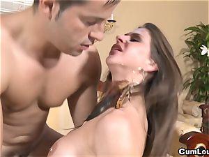 nasty Rachel Roxx gets smashed by a monster jizz-shotgun