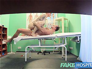 fake polyclinic Flirty inked minx requests hasty intercourse