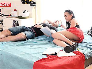 LETSDOEIT - wild teen Cheats and drills her BFs daddy
