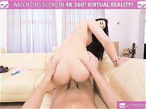 VR porno - Thanksgiving Dinner becomes a crazy 3 way