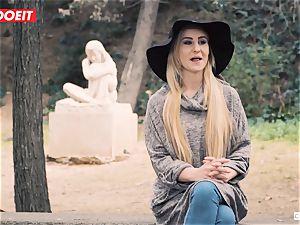 teenage platinum-blonde gets humiliated in harsh bdsm romp escapade