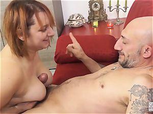 audition ALLA ITALIANA - Italian red-haired deep anal sex