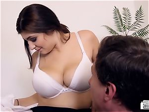 arses BUERO - mischievous office hump completes with jizm on baps