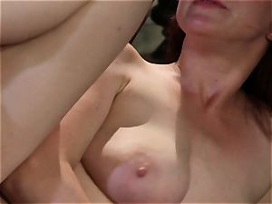 shy waitress Penny Pax ravages her dream customer