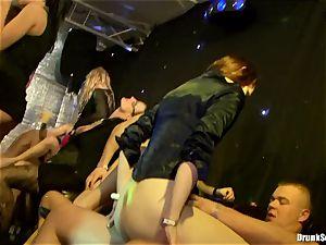 Bibi Fox with ultra-cutie mates crammed with super-fucking-hot jizz