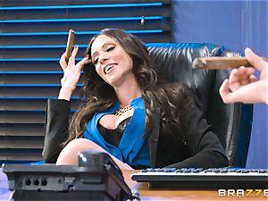 bum pummeling cougar Ariella Ferrera in the office