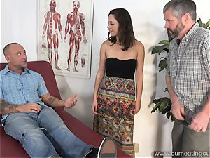 Jade Nile Has Her spouse fellate man meat and watch Her