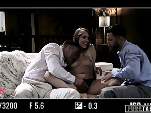 pure TABOO babe Tricked Into revenge three-way with Strangers