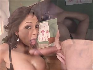 moaning and screaming Priya Rai popped in the slit by headteacher