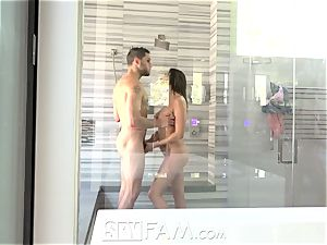SpyFam Step brother spies on step step-sister Ashley Adams