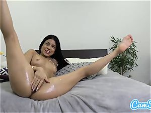 well-lubed latina rectally playthings