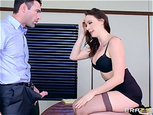 Chanel Preston throating on Charles Deras ginormous fuckpole