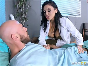 thick boobed medic Audrey Bitoni handles a thick dicked patient