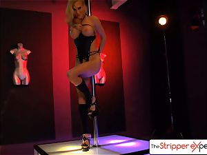 The StripperExperience- Sarah Jessie drilling a large manhood